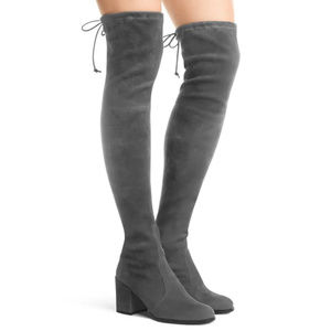 Stuart Weitzman THE TIELAND BOOT Slate Gray 36.5